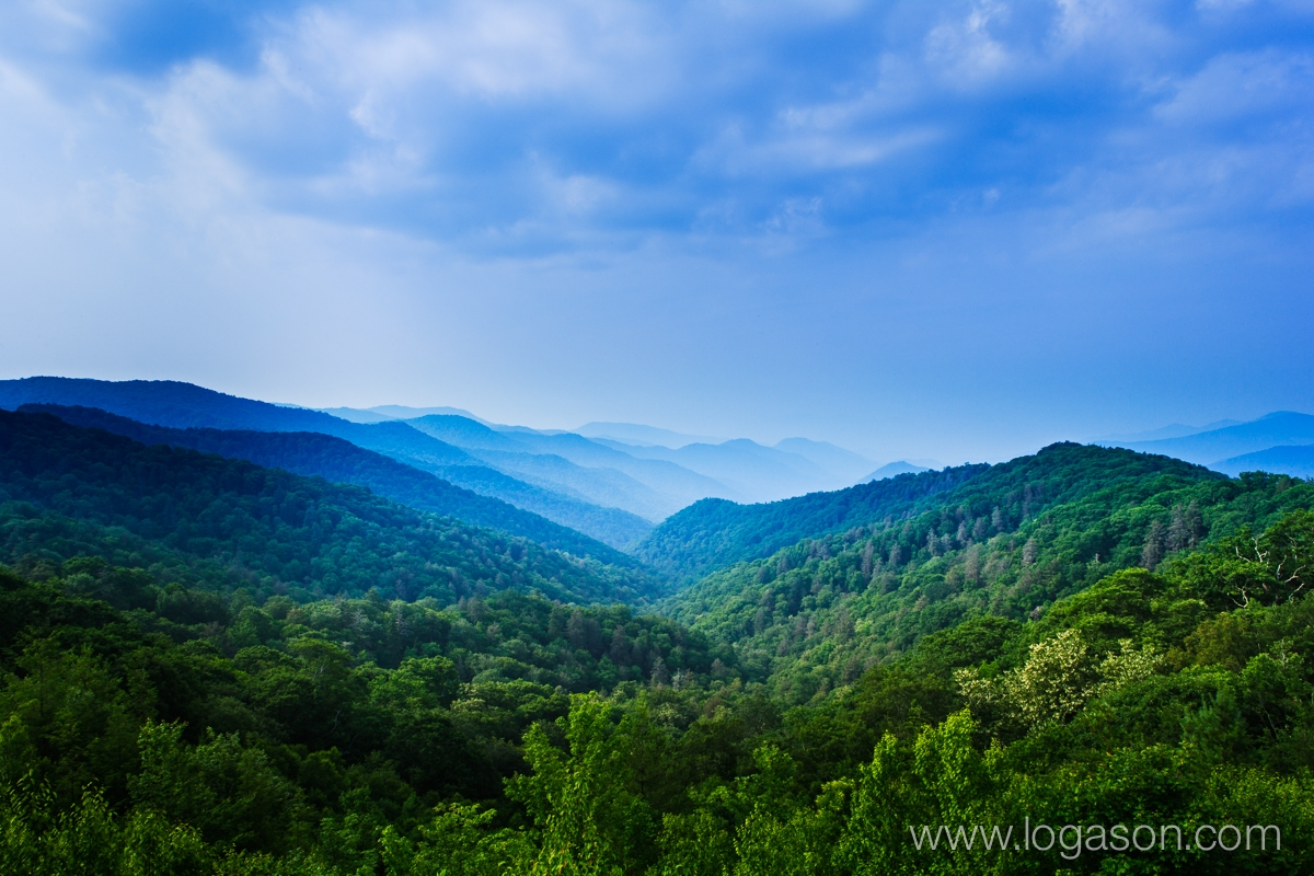 Blue haze in the Great Smoky Mountains