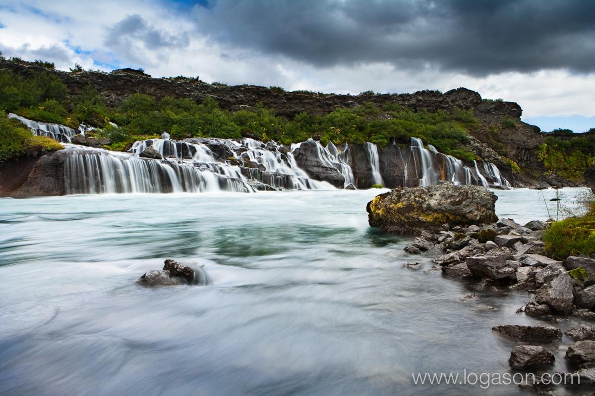 Hraunfossar in west Iceland