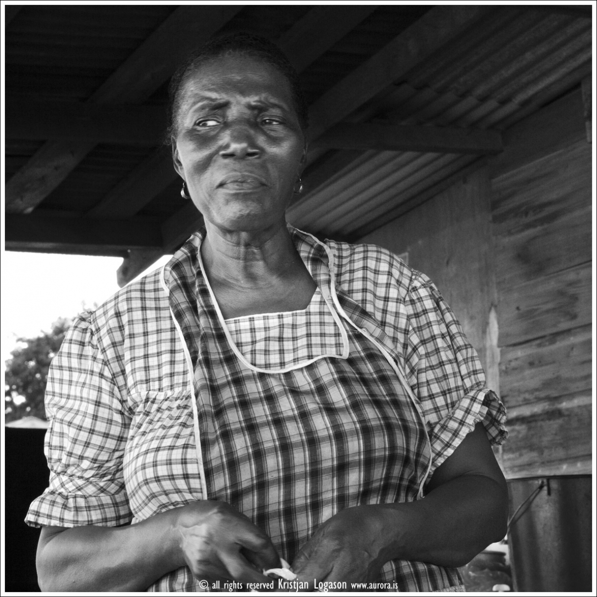 Miss Julie former teacher for 22 years now runs a small restaurant on the mainstreet of Dangriga