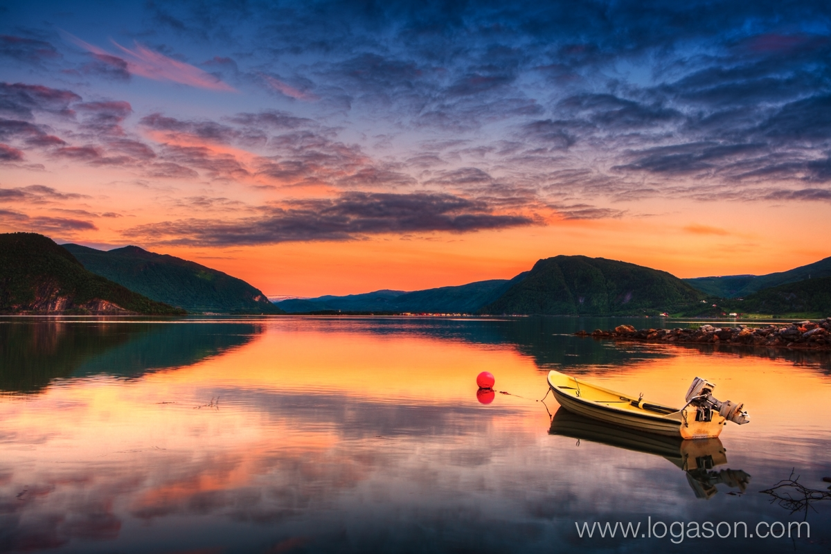 Calm evening in Rognan North Norway