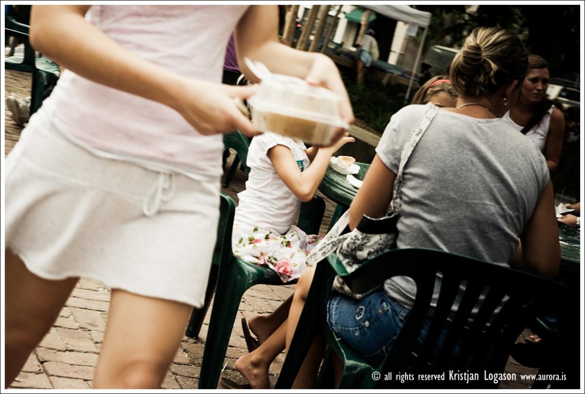 Mini skirt at the Farmers market in Charleston