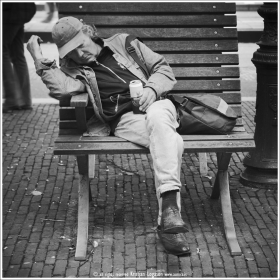 Sleeping with beer - Amsterdam