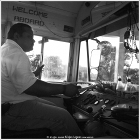 Busdriver in Dangriga, Belize