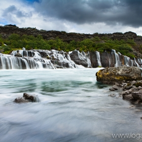 Hraunfossar in west Iceland