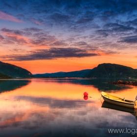 Calm evening in Rognan North Norway