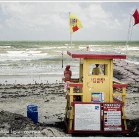 Yellow lifeguard on duty