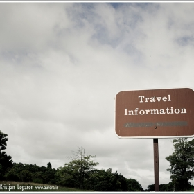 Travel information sign on Blue Ridge Parkway